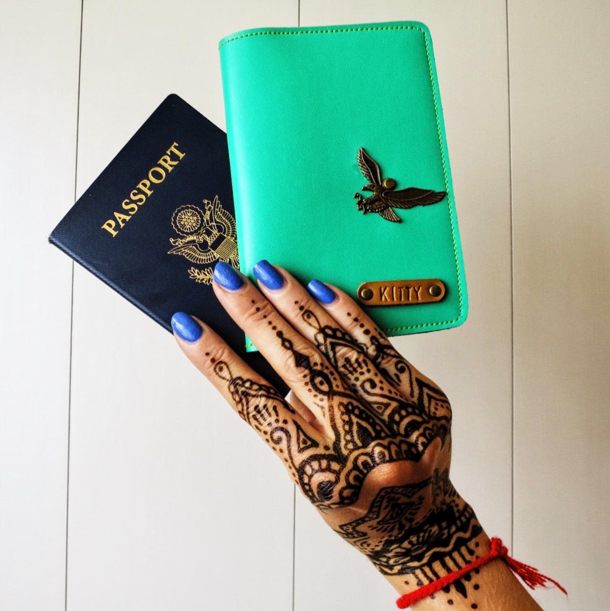 Market score: a personalized passport holder.