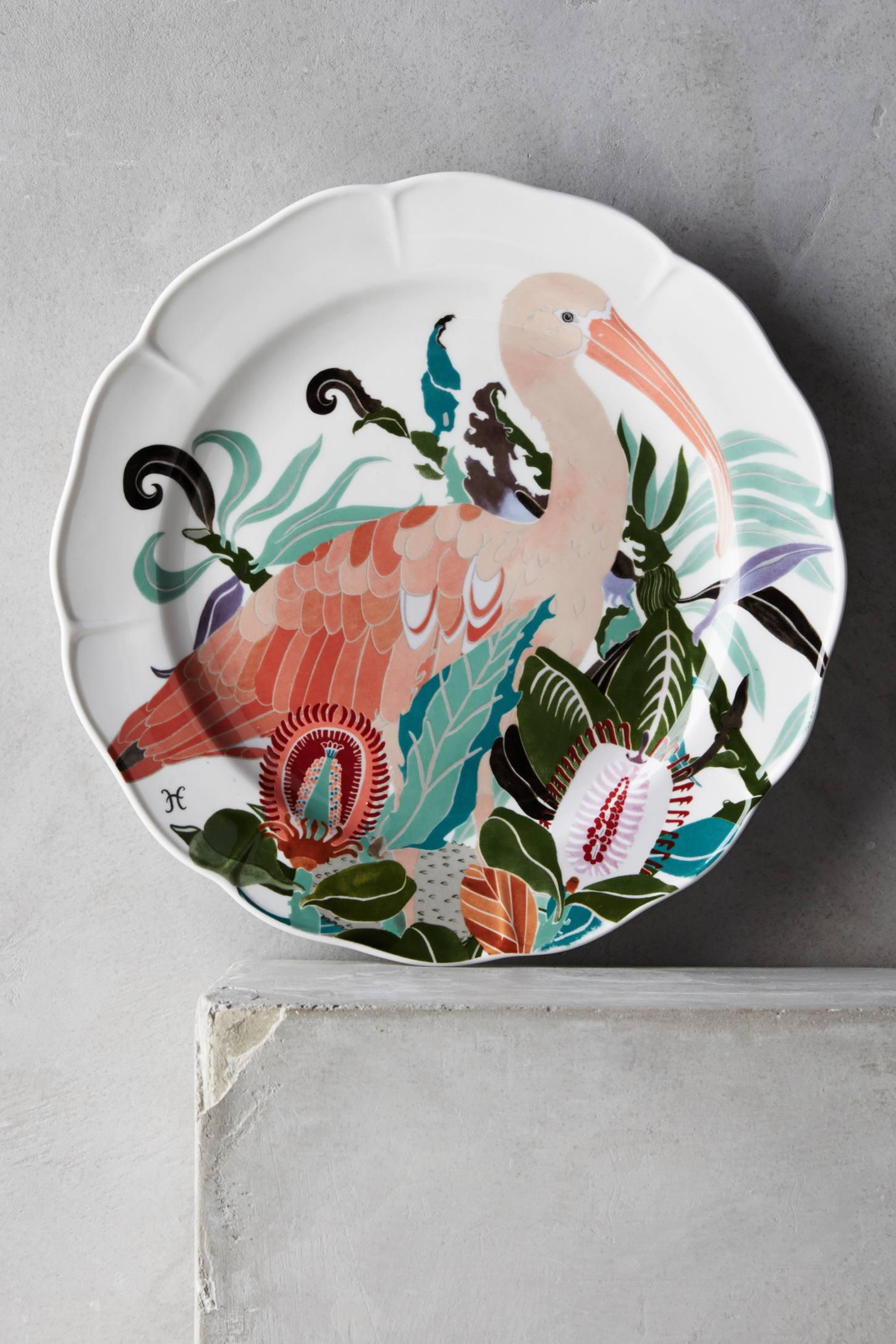 Paradise Found Side Plate   •  Anthropologie