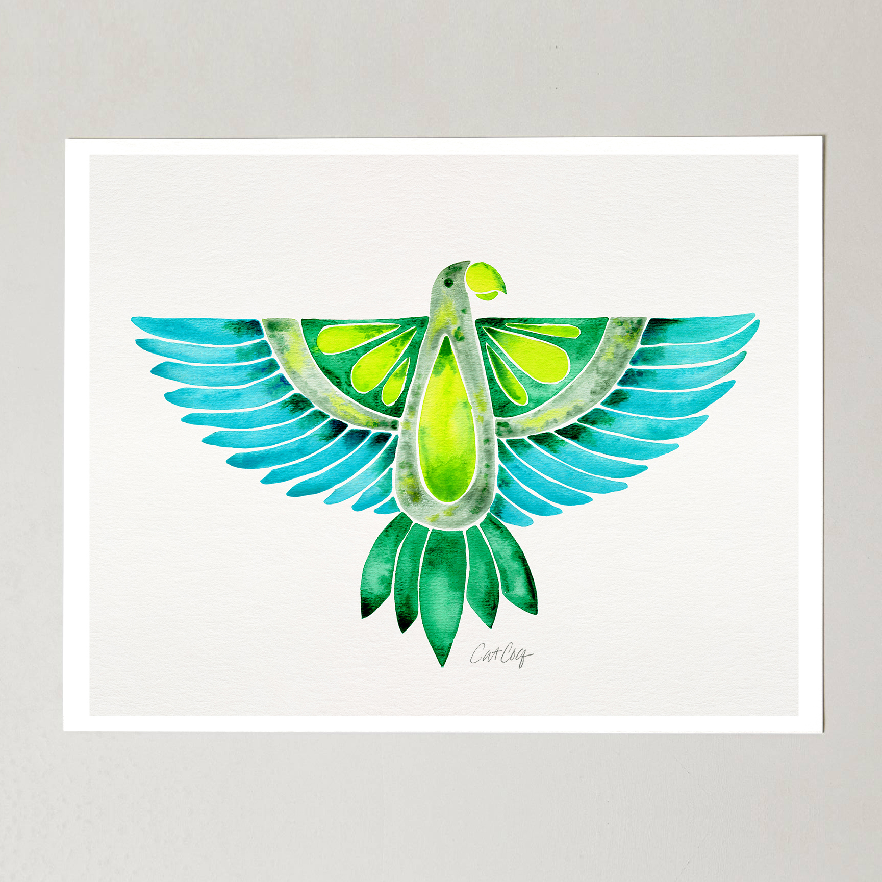 Parrot Watercolor   •  Etsy