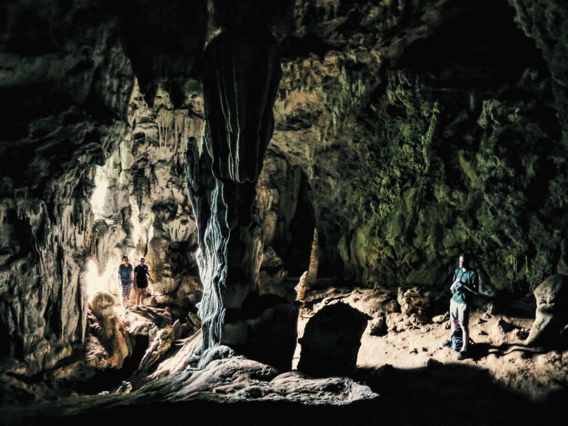 View from inside the cave.