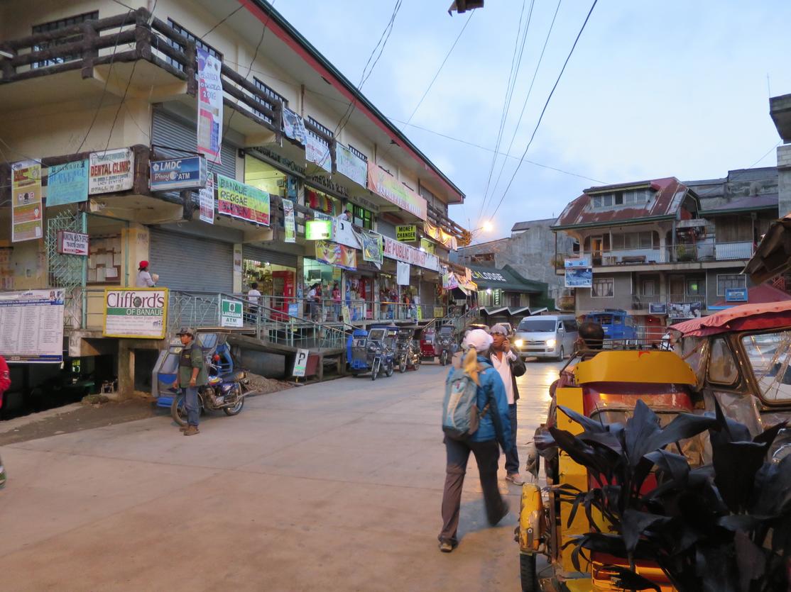 Wandering around the streets of Banaue.