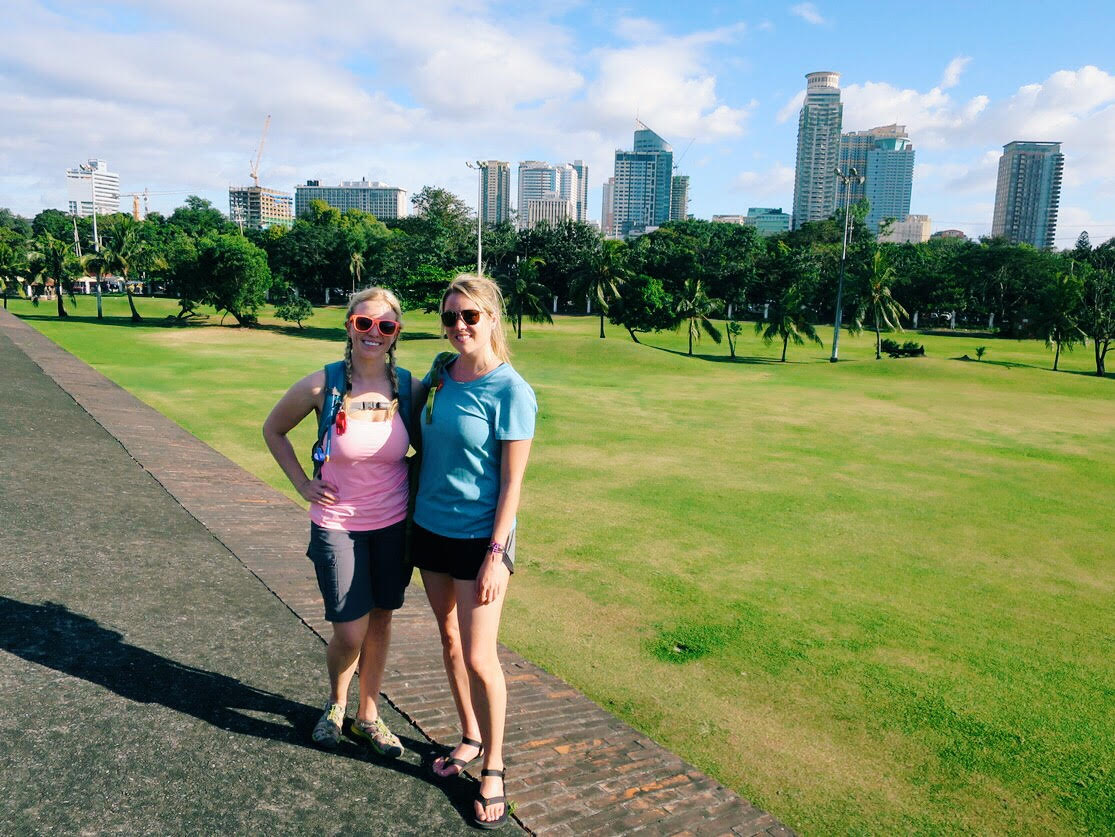 Mountain girls back in Manila.