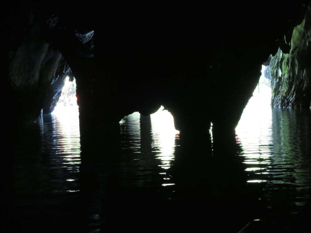 View of the cave from the inside looking out.
