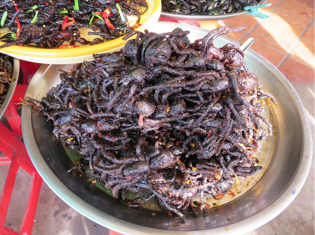 Deep-fried tarantulas