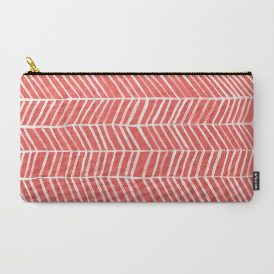 Coral Herringbone  •  carry-all pouch $14–$24