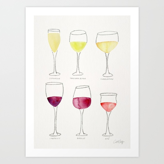 Wine Collection  •  art print $18–$64