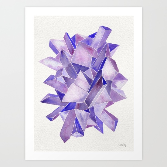 Amethyst Watercolor•  art print $18–$64