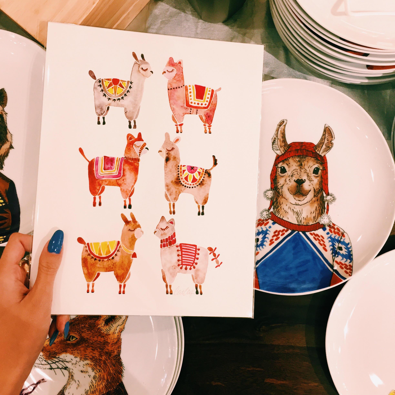 Alpaca art print available  here .