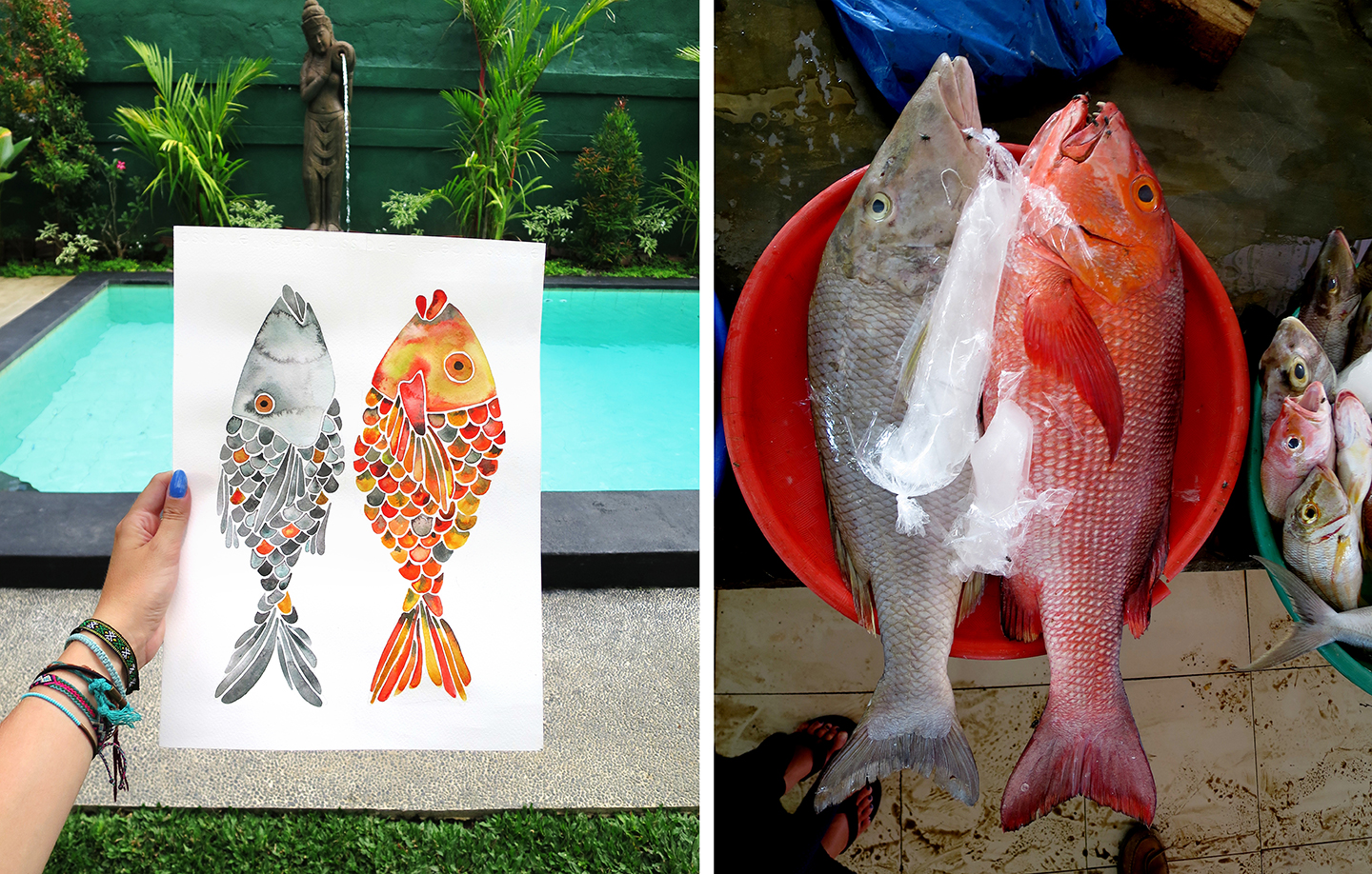 Artistic inspiration can come from the unlikeliest of places. Like the fish market in Labuan Bajo.