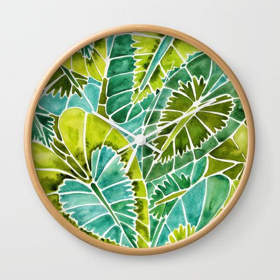 schismatoglottis-calyptrata-green-palette-wall-clocks.jpg