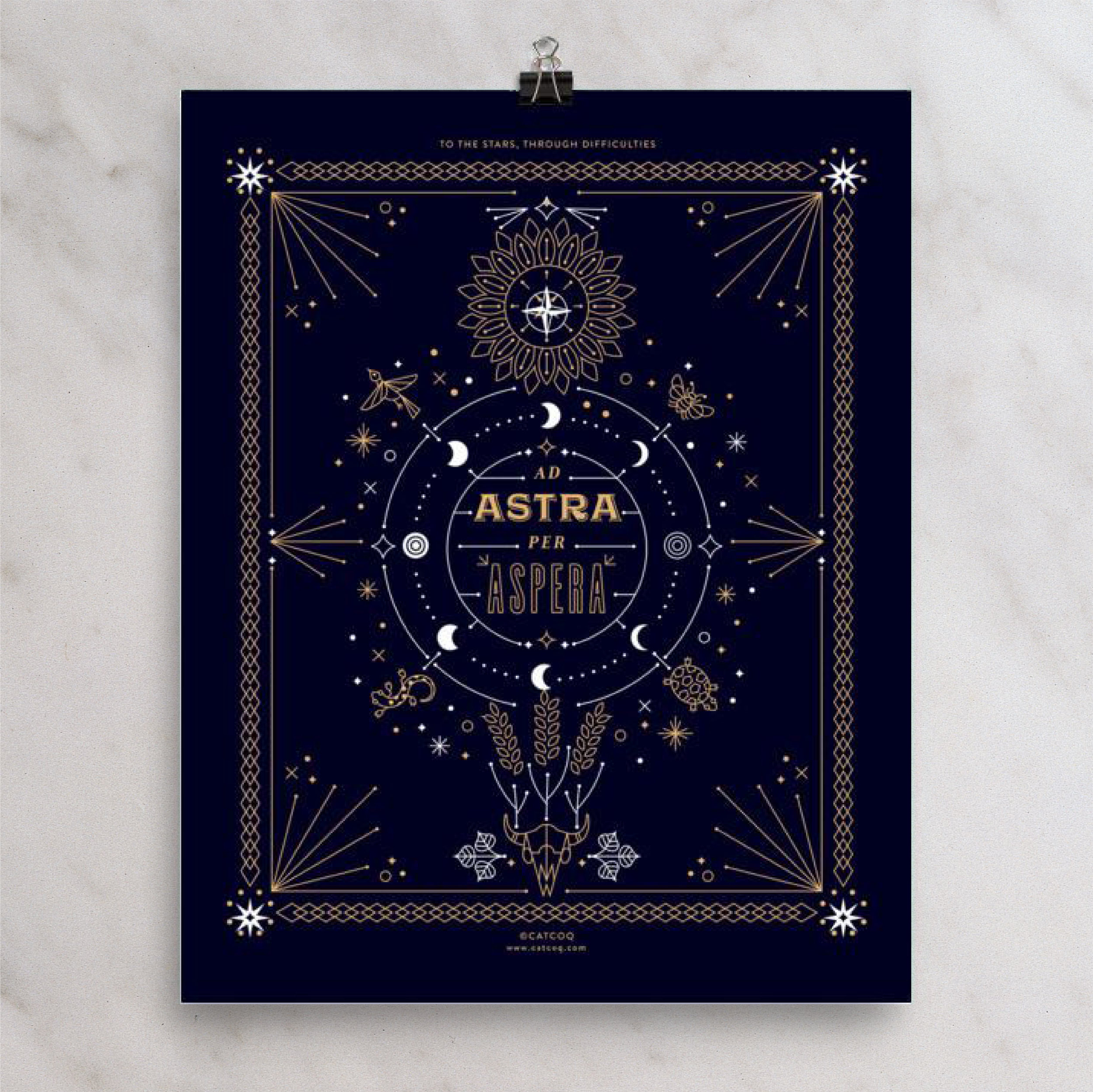 Ad Astra Per Aspera – Digital Art Print — CatCoq