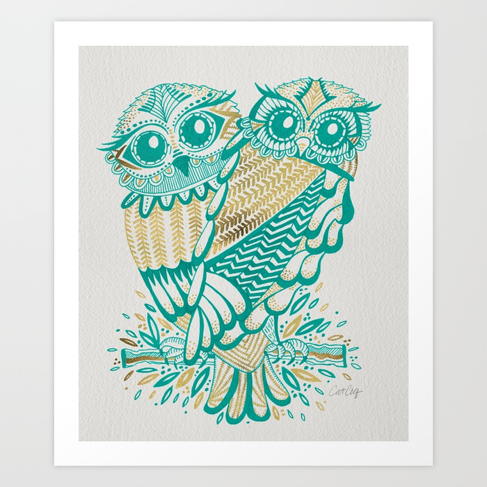 owls--turquoise--gold-prints.jpg