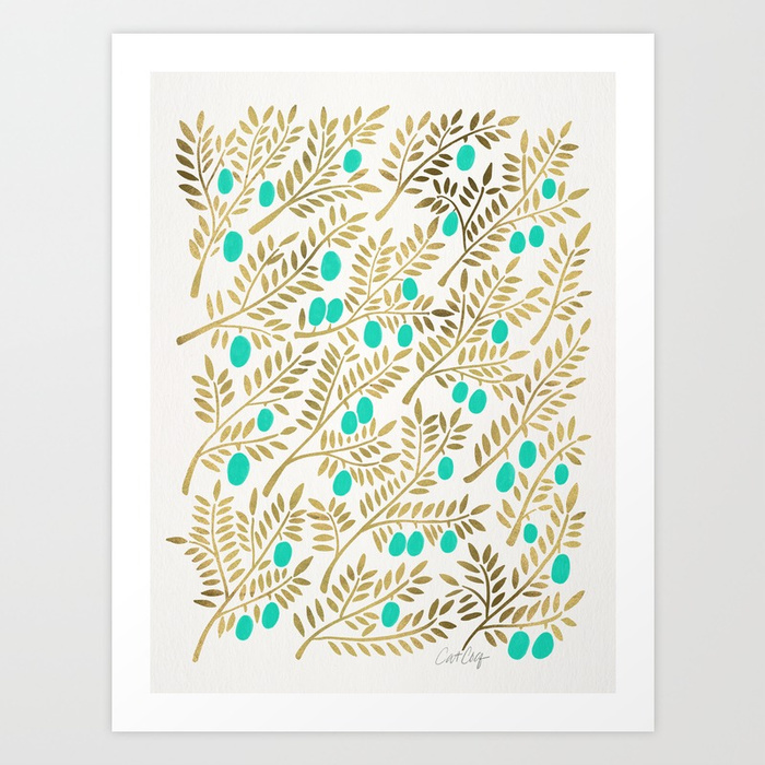 gold--turquoise-olive-branches-prints.jpg