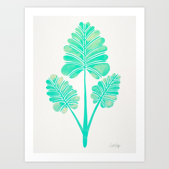 tropical-palm-leaf-trifecta-turquoise-palette-prints.jpg