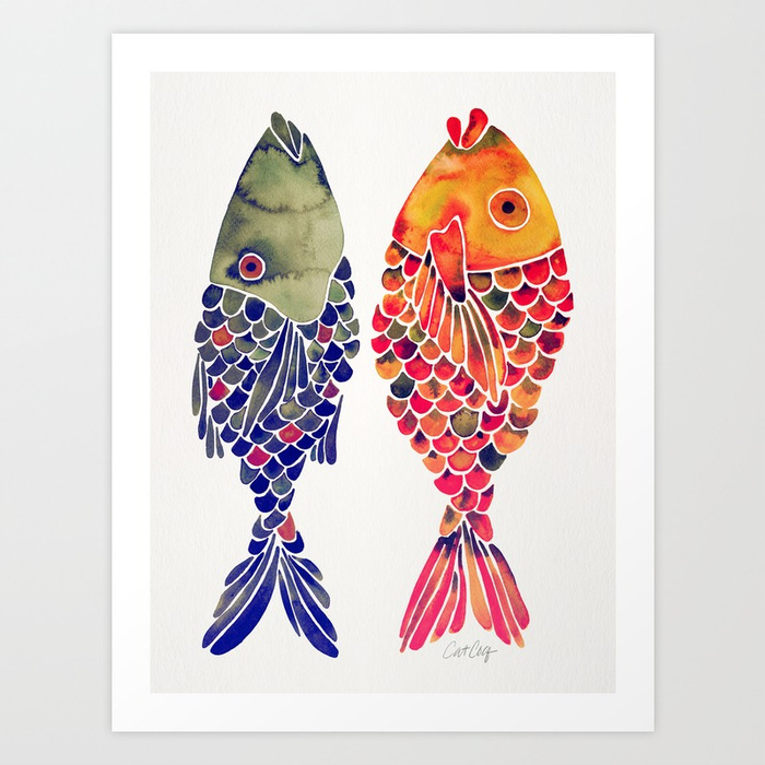 indonesian-fish-duo-navy-coral-palette-prints.jpg