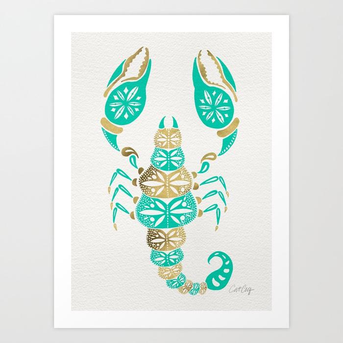 scorpion--turquoise--gold-prints.jpg