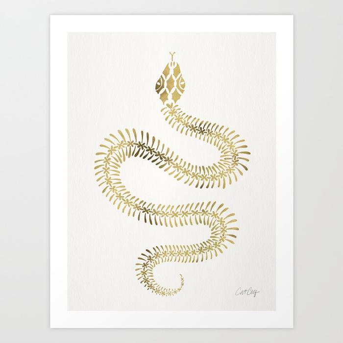 snake-skeleton-gold-prints.jpg
