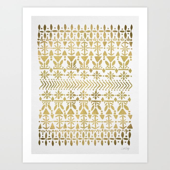 norwegian-pattern--gold-on-white-prints.jpg