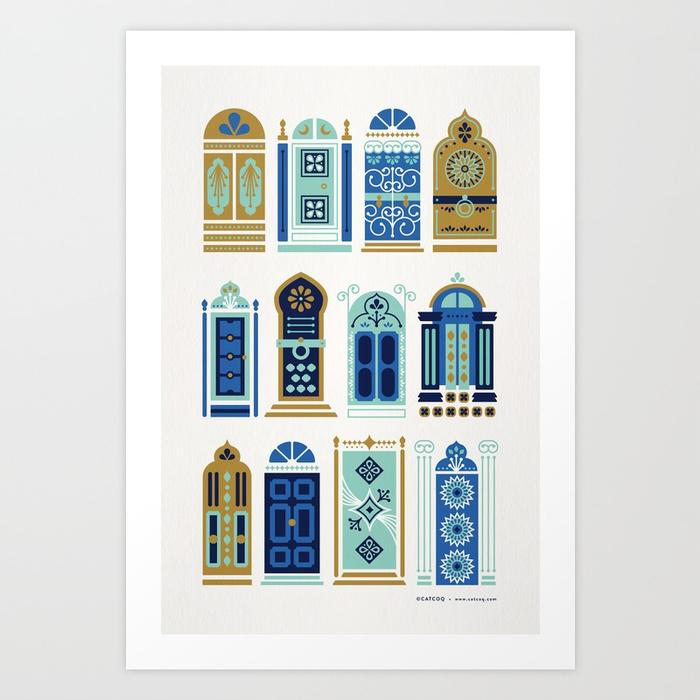 moroccan-doors-blue-gold-palette-prints.jpg