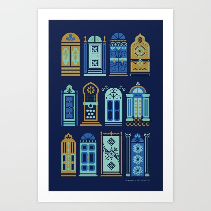 moroccan-doors-navy-palette-prints.jpg