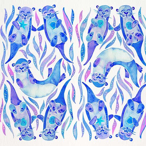 Periwinkle-Otters-pattern.jpg