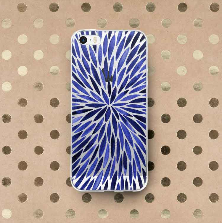 Navy Burst iPhone Case   –   $30