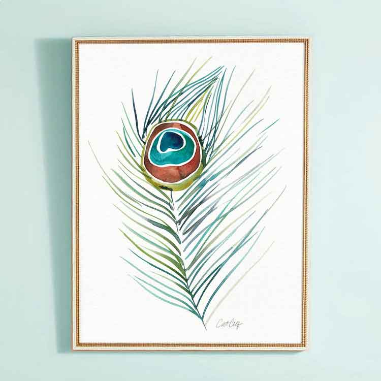 Peacock Feather • Art Print     – Starting at $20