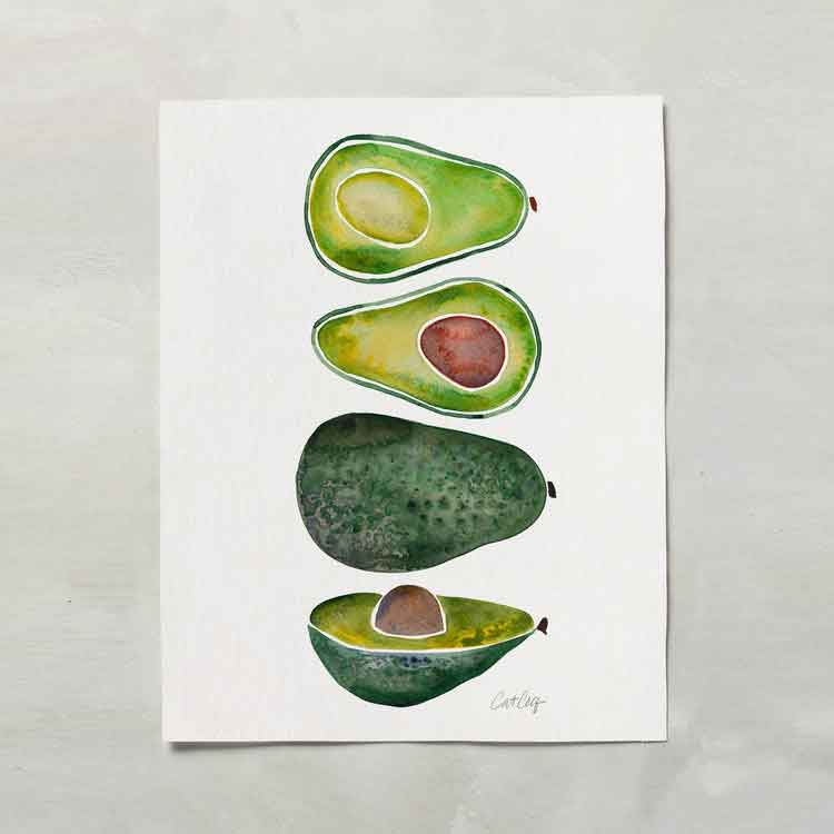 Avocado Slices • Art Print     – Starting at $20