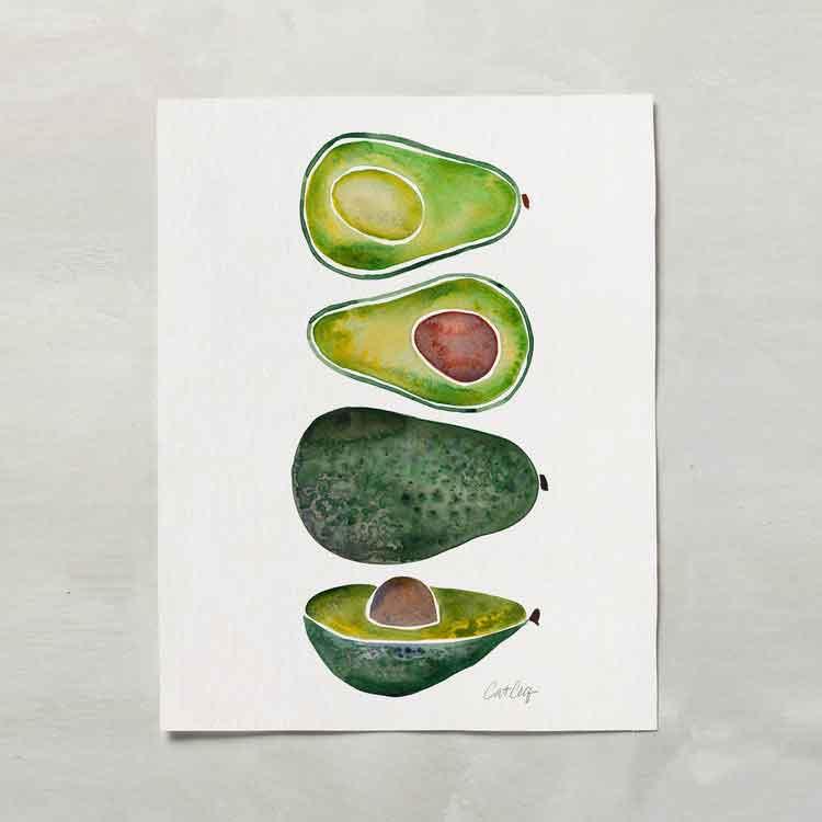 Avocado Slices • Art Print    – Starting at $20