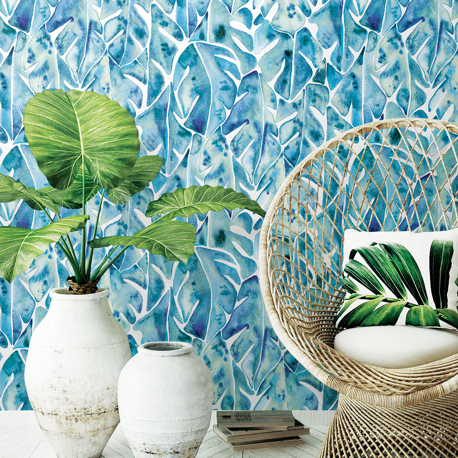 Featured design:  Blue Philodendron