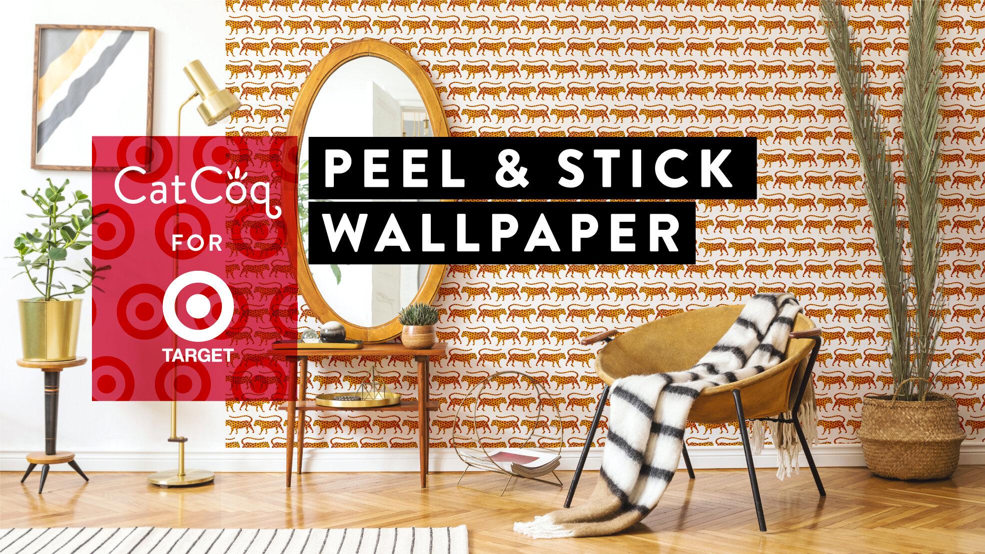 Catcoq Peel Stick Wallpaper Now Sold Through Target With Partner Roommates Decor Catcoq