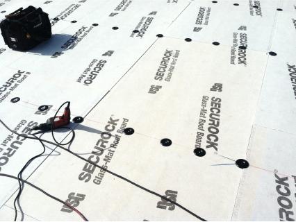 USG Securock TM Used Over Fluted Steel Deck