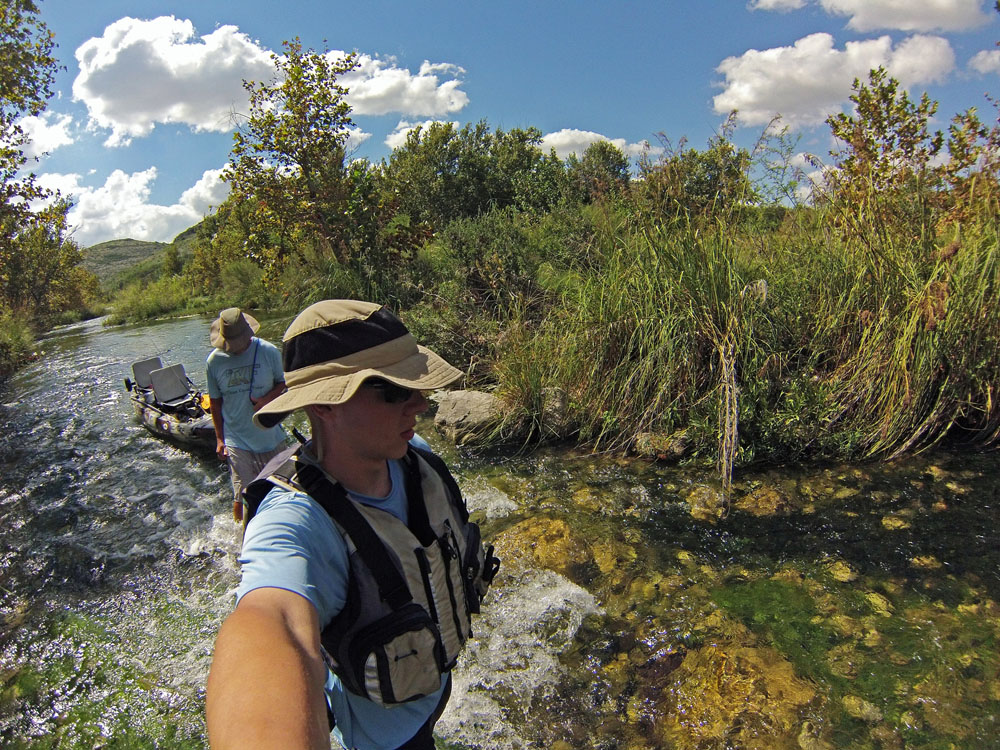 Clint Taylor on the Devils River, taken with a GoPro Hero 3 Silver Edition