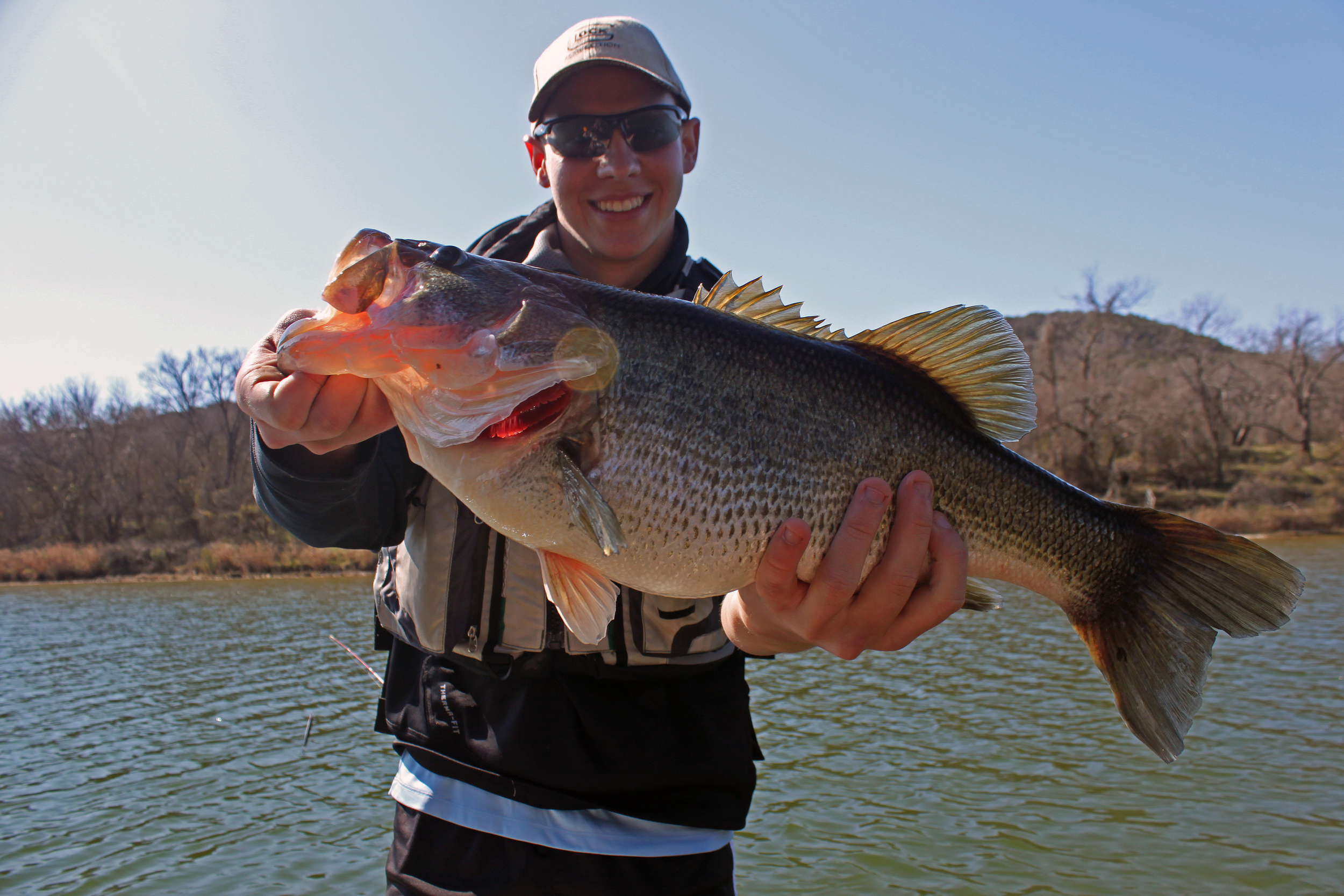Huge Twelve Pound Bass Caught on the Brazos River with a KVD Square Bill Crankbait