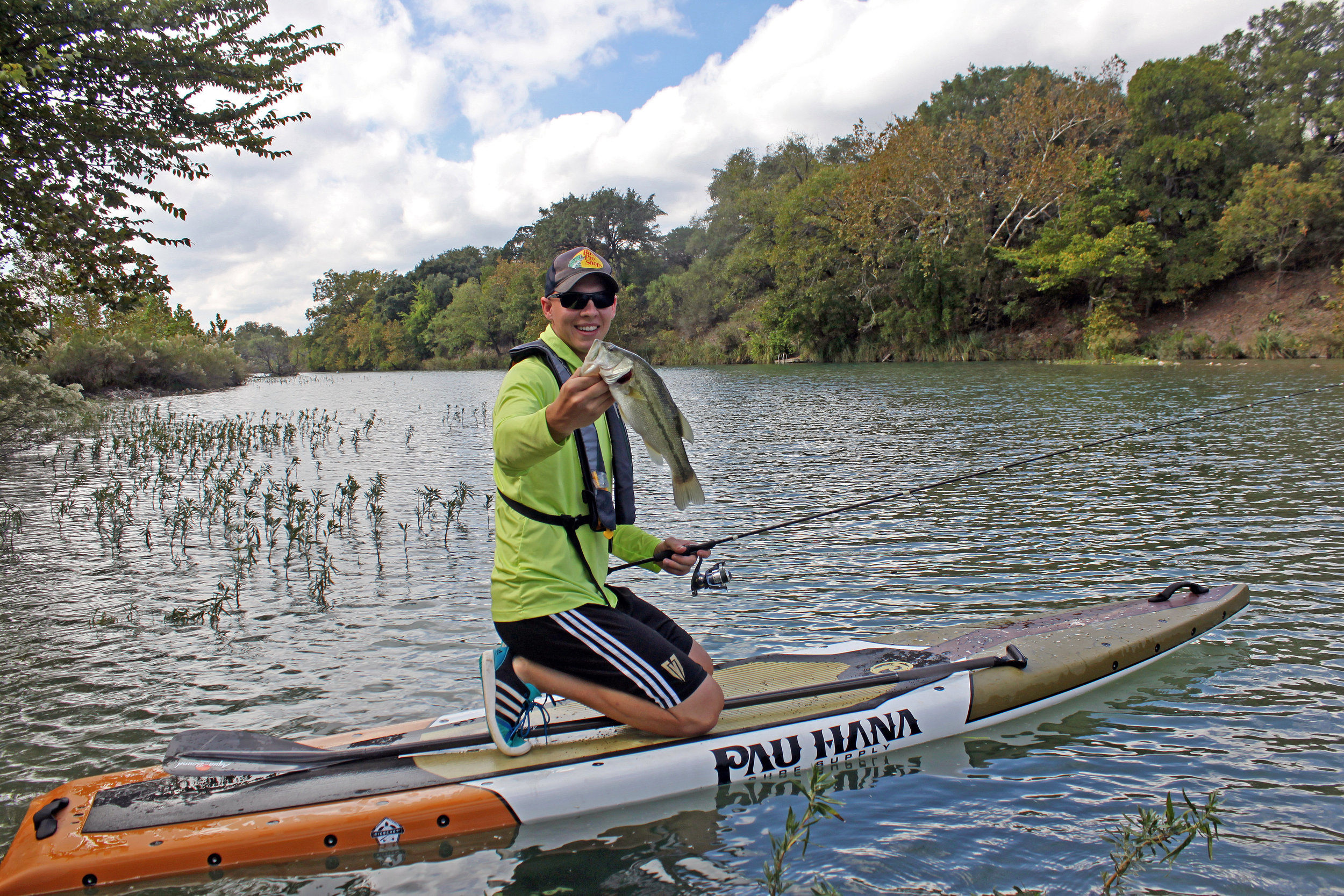 Clint Taylor Pau Hana Endurance Paddleboard on the South Llano River