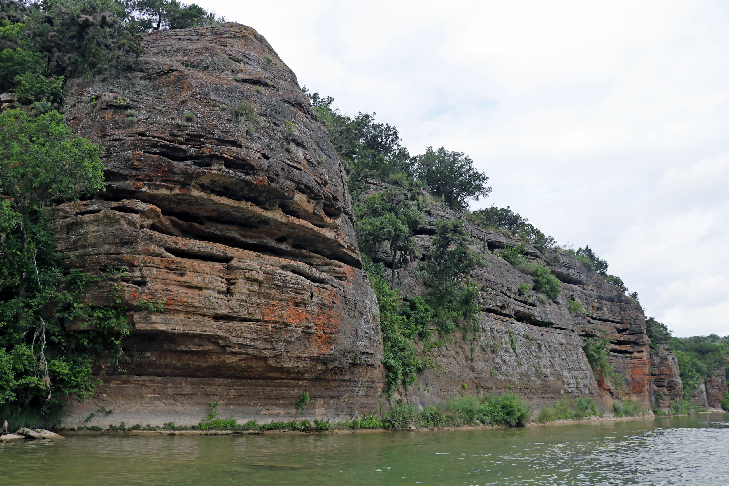 Cliffs on the Llano River near Mason Texas
