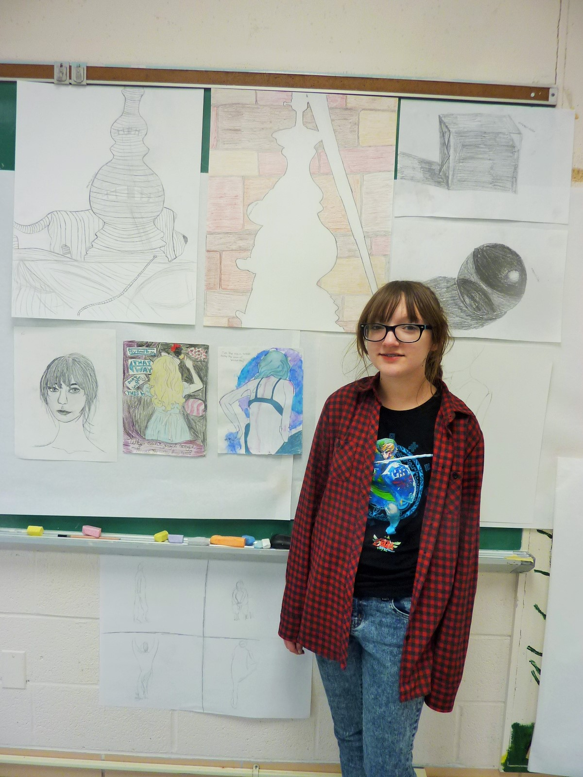 Another natural draftsman in Drawing Fundamentals, Katie