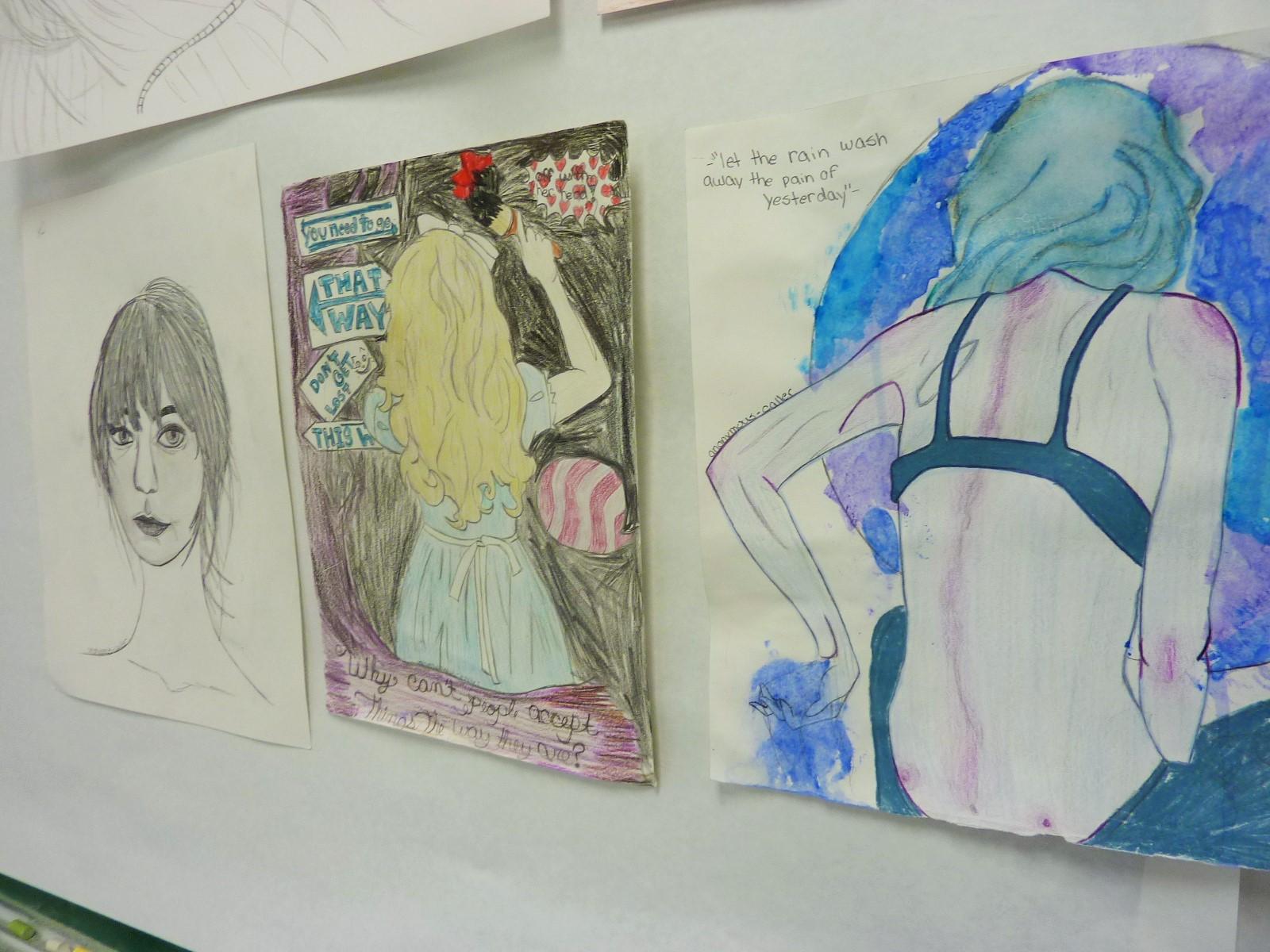 Katie/ projects: self portrait/ children illustration/ mythical creature
