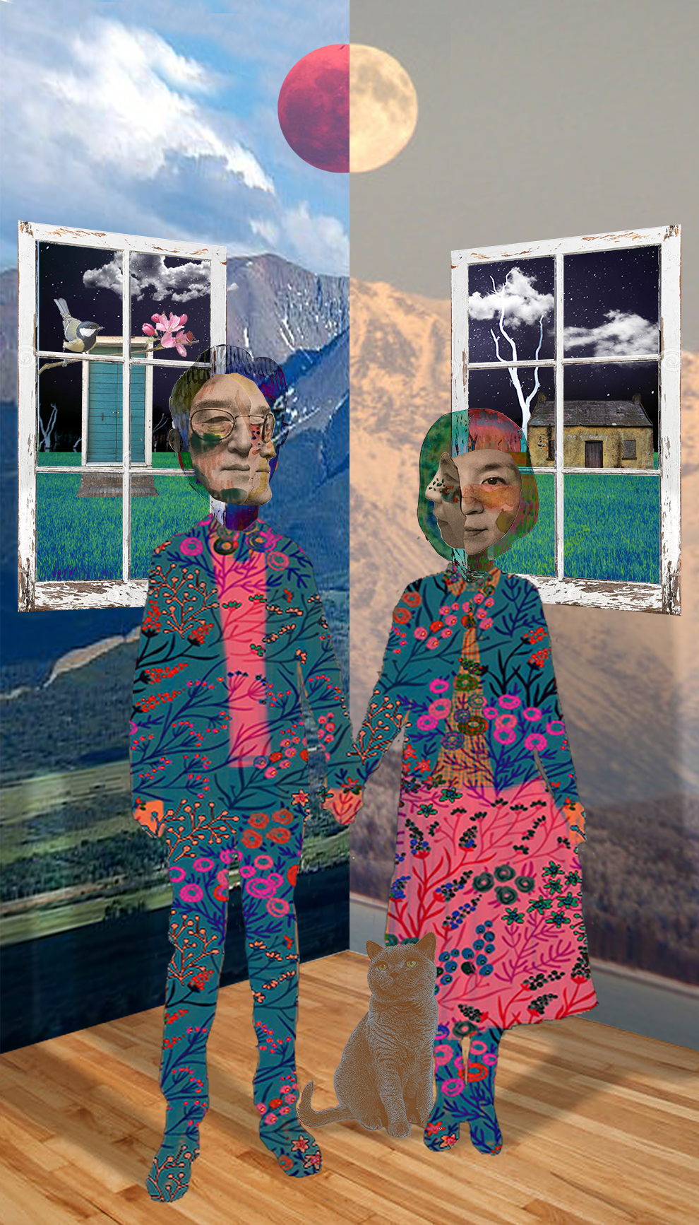 "Love  , 63""x36"", Digital print on fabric, 2018"