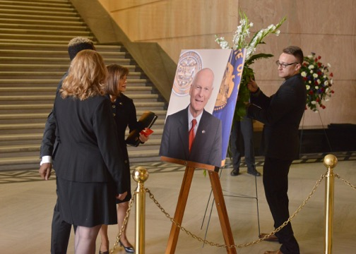 Preparations for the State Funeral of Secretary of State of Oregon, Dennis Richardson