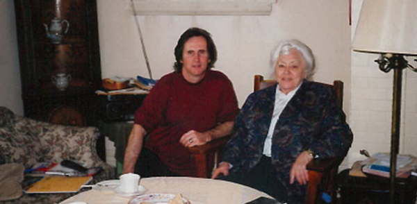 Ron Dart with Sheila Grant at the grant home in halifax