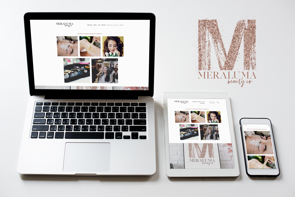 Meraluma Beauty: Squarespace Build