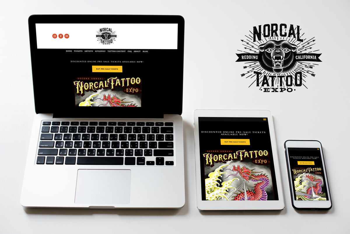 Norcal Tattoo Expo: Squarespace Build