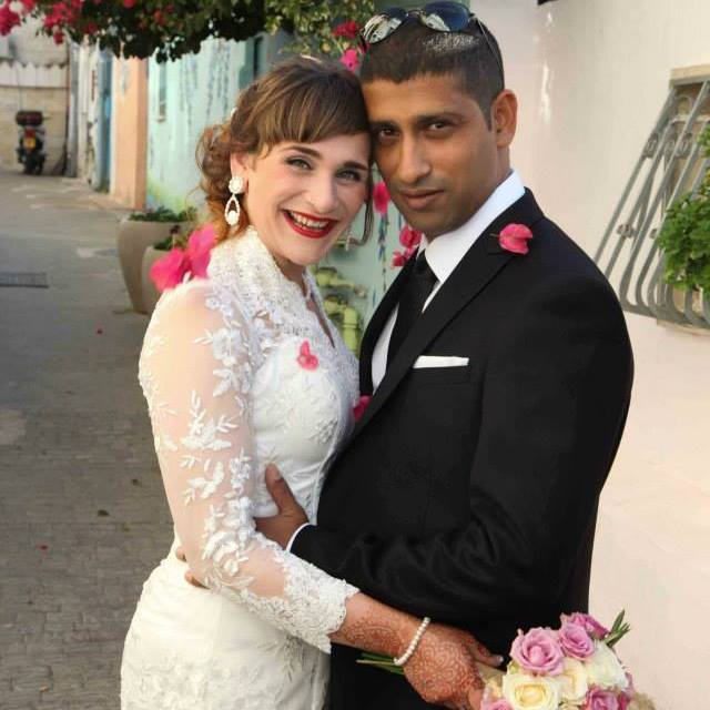 Multicultural couple getting married
