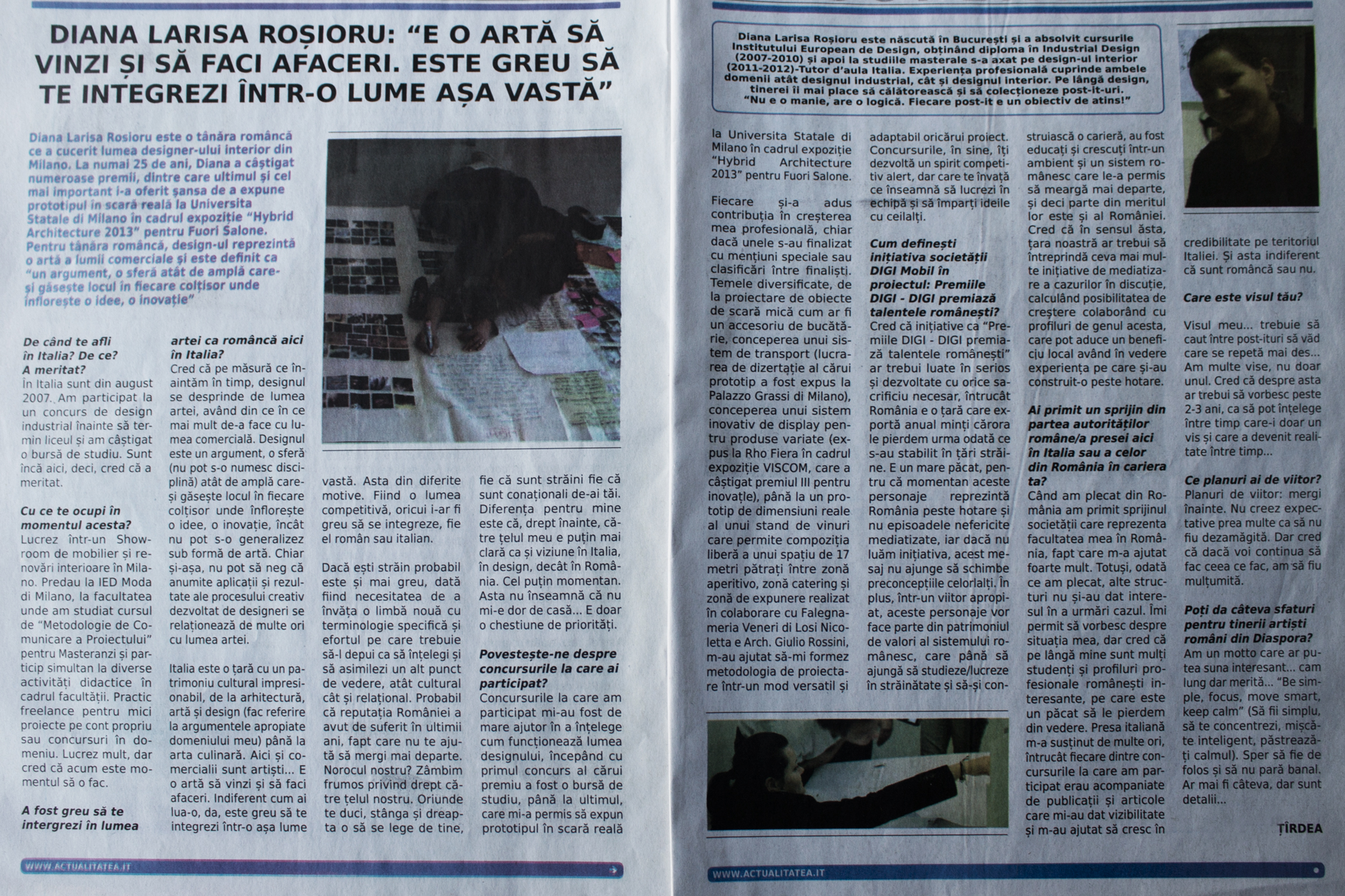 "ACTUALITATEA NEWSPAPER  |  ""The art of business, young perspectives""   