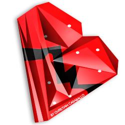 Low Poly Kanye Heart Logo.