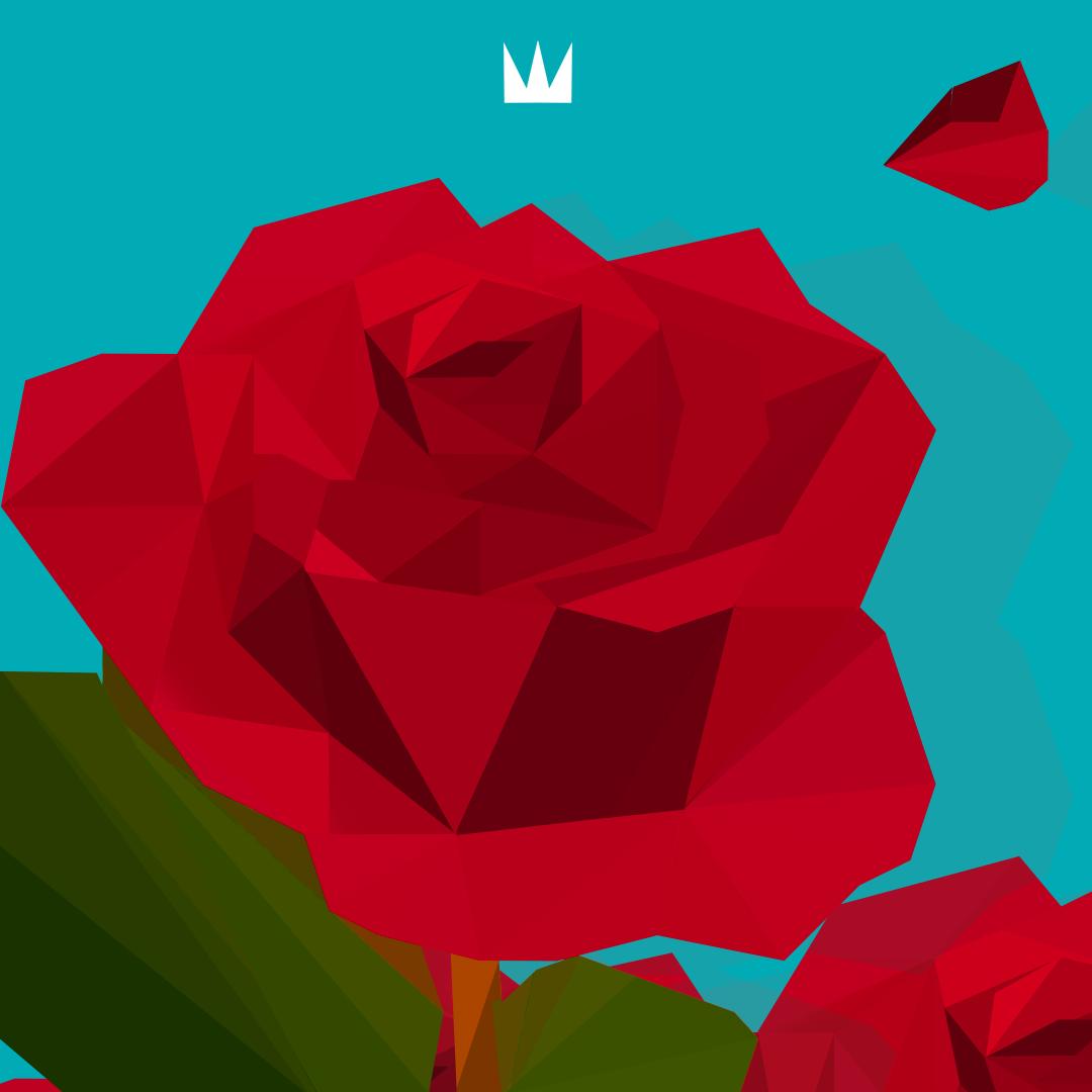 Low Poly Rose.