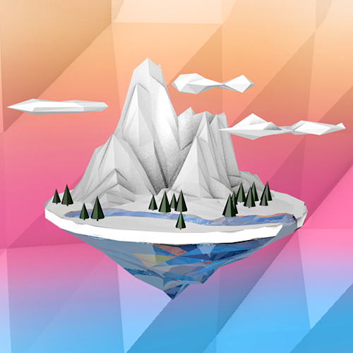Low Poly Artic Island.