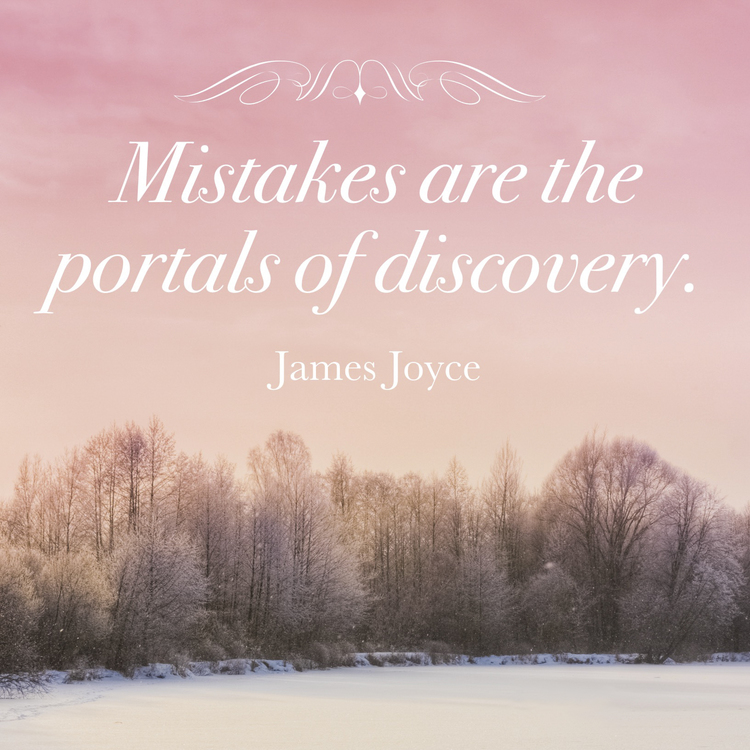 Michelle Larson   - We really discover who we are when we make mistakes. A mistake reroutes us to where we are meant to go. It may feel like a roadblock, but ultimately it is a bridge that takes us to where lessons are learned and applied... where life is perfectly imperfect.