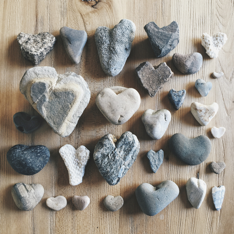 Michelle Larson  -When I am away on a journey or just taking a hike or walk along the beach, I find a heart shaped rock. I bring it home and give it to my husband as a token of my love. I have been doing this for years and we now have a big bowl of these precious stones in our home. Showing love in small ways can make a big impact.